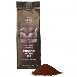 Café bio moulu pur Arabica Moka d'Ethiopie sachet souple 250g