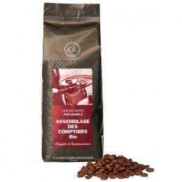 Café Bio en grains Assemblage des Comptoirs pur Arabica sachet souple 250g