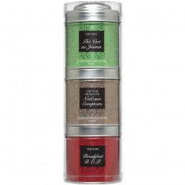 Tubo 3 petites boîtes de thés verts et noirs Jasmin, Breakfast, Noël 85g