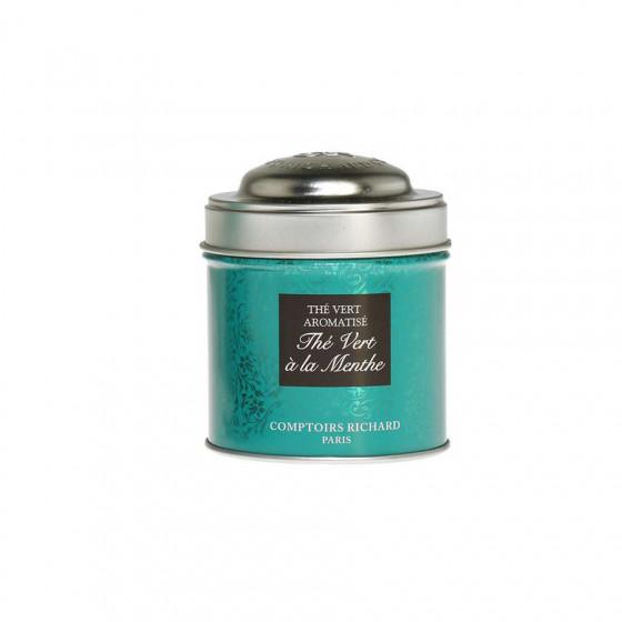 Thé vert à la menthe boîte métal vrac 25g