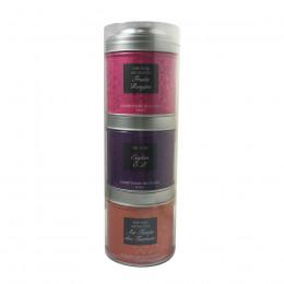 Tubo 3 petites boîtes de thés noirs et verts Au temps des Tsarines, Ceylan OP, Fruits rouges 70g