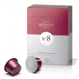 Café expresso velouté capsules premium n°8 pour machine Ventura Richard x24