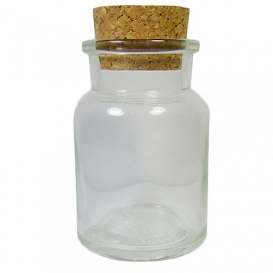 Bocal en verre avec bouchon de liège 0,3L
