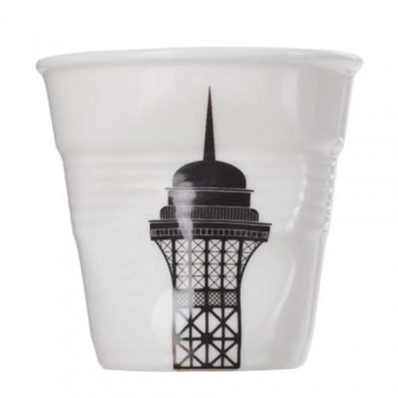 Gobelet froissé expresso Tour Eiffel 8cl