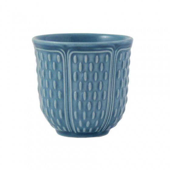 Coffret 2 gobelets bleu givré 8,5cl