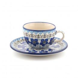 Tasse et soucoupe Blue Violets 22cl