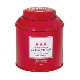 Thé vert aromatisé bio citron & gingembre Visite d'Exception au Champ de Mars boîte métal vrac 100g