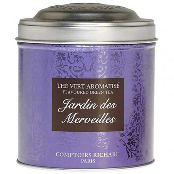 Boîte métal vide thé Jardin des Merveilles 200g