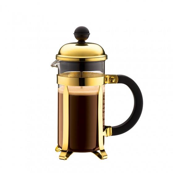 Cafetière à piston dorée Chambord 3 tasses Bodum
