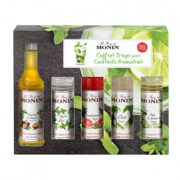 Coffret 5 mini sirops cocktails sirops 5cl