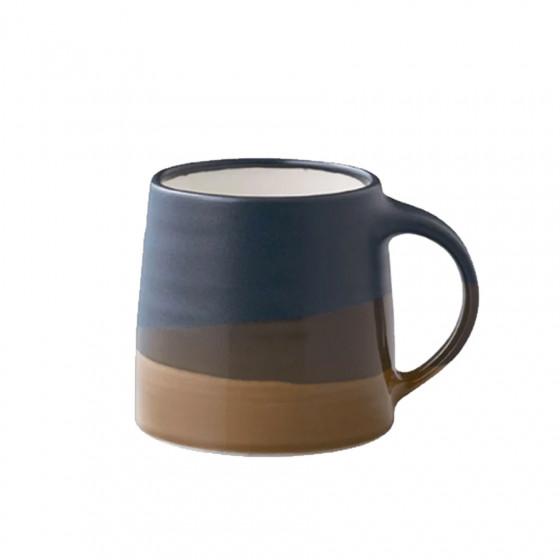 Mug tricolore bleu marine - taupe 32cl