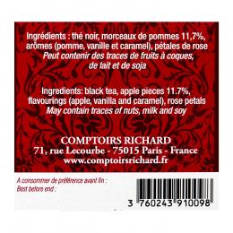 Thé noir Pomme Chérie sachets voile x15