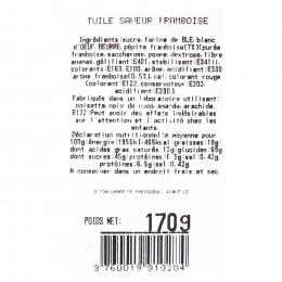 Sachet garni palets aux framboises 170g