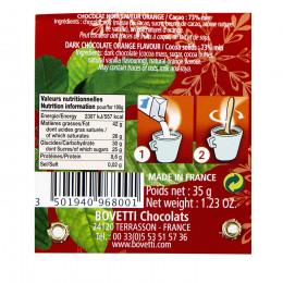 """Cuillère """"J'aime le chocolat chaud noir et orange"""" 35g"""