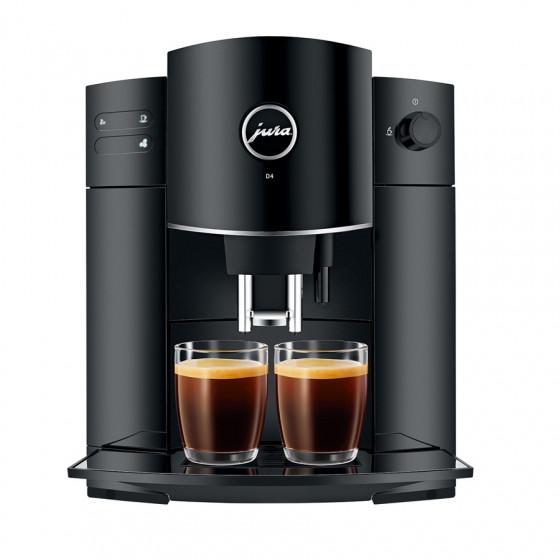 Robot café JURA D4 Pianoblack et 2 paquets de 250g de café en grains et 4 verres expresso Cafés Richard 5cl offerts
