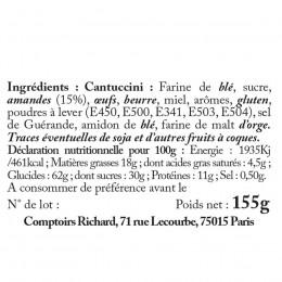 Boîte métal à café garnie de Cantuccinis aux amandes 155g