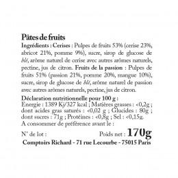 Étui garni de pâtes de fruits assorties 170g