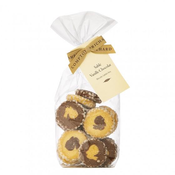 Sachet garni de biscuits sablés lapins vanille chocolat 150g