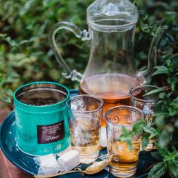 Set de 6 verres à thé motifs argenté