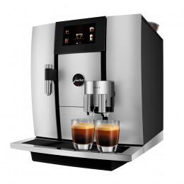 Robot café JURA GIGA 6 Aluminium et 5 paquets de 250g de café en grains et 4 verres double parois Cafés Richard offerts