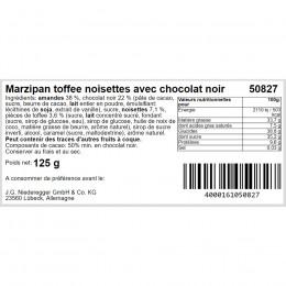 Pain de marzipan chocolat noisette caramel 125g