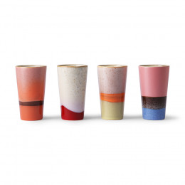 Coffret 4 latte mug multicolore 28cl