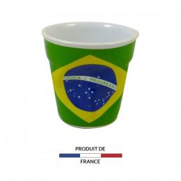 Gobelet froissé expresso drapeau Brésil 8cl
