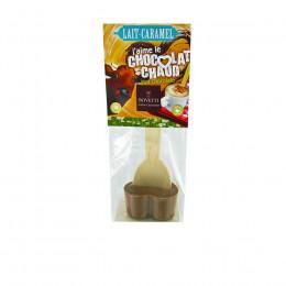 """Cuillère """"J'aime le chocolat chaud chocolat lait caramel"""" 35g"""