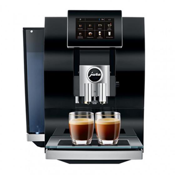 Robot café JURA Z8 Diamond Black et 5 paquets de 250g de café en grains et 4 verres double parois Cafés Richard offerts