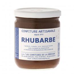Confiture rhubarbe Les Confitures de la Création 500g