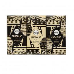 Coffret de 3 mini tablettes de chocolat noir et de chocolat au lait 90g