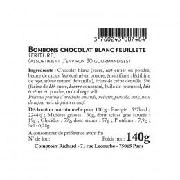 Sachet friture feuilleté chocolat blanc 140g