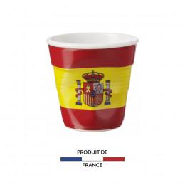 Gobelet froissé expresso drapeau Espagne 8cl