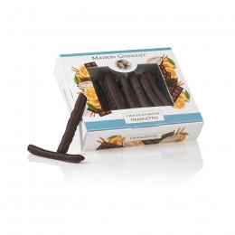 Étui garni d'orangettes enrobées de chocolat noir 150g