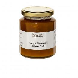 Confiture de mangue gingembre et citron vert 320g