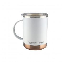 Mug Isotherme blanc en acier et céramique 36cl