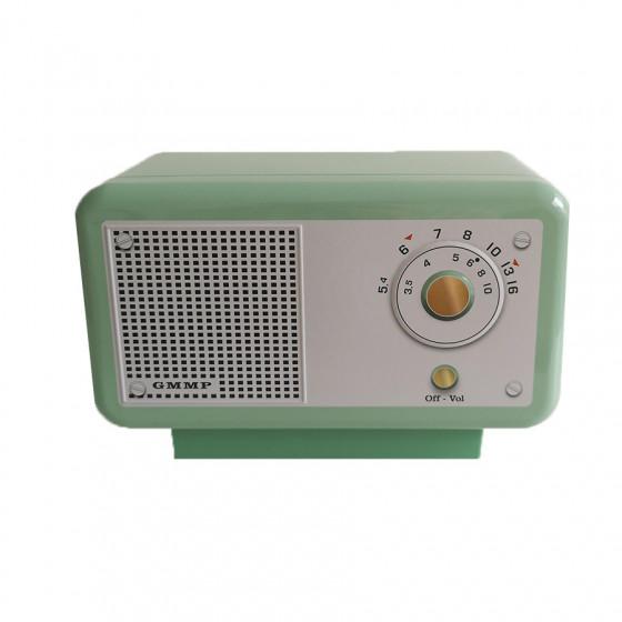 Boîte vide radio-réveil verte