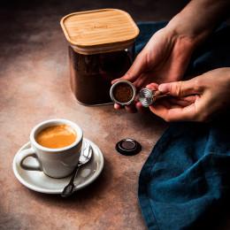 Cuillère moka métal inscription café