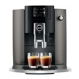 Robot café JURA E6 Dark Inox et 3 paquets de 250g de café en grains et 2 verres expresso Cafés Richard 8cl offerts
