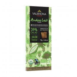Tablette de chocolat au lait 39% Andoa Bio 70g